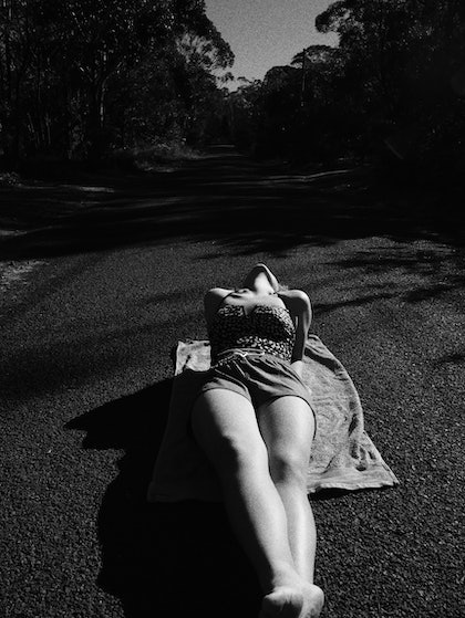 Sunbathing on the Country streets