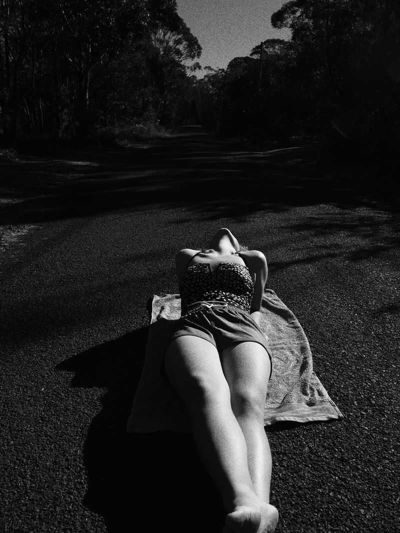 (CreativeWork) Sunbathing on the Country streets by Rosemary Whatmuff. Photograph. Shop online at Bluethumb.