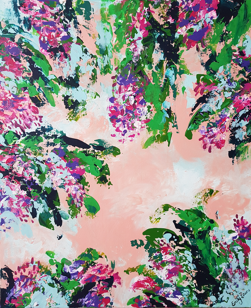 the tropical garden by emily lauro paintings for sale bluethumb