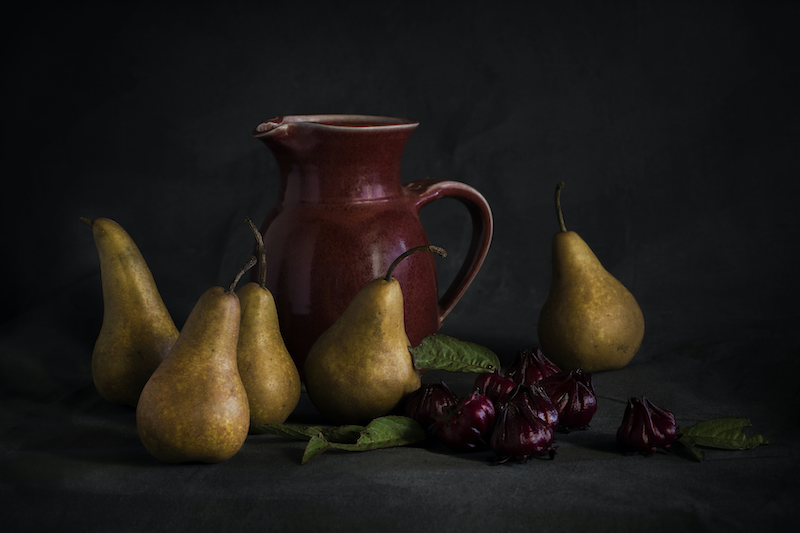 (CreativeWork) Pears and Rosellas by Anna-Riitta Ovaska. photograph. Shop online at Bluethumb.