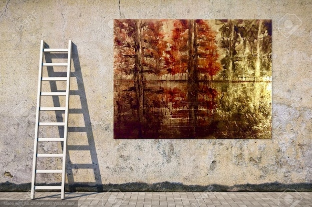 (CreativeWork) Truth, Like Gold - Tolstoy 122x92x3.5  by Louise Croese. #<Filter:0x00007fcaf58dd890>. Shop online at Bluethumb.