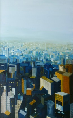(CreativeWork) New York II by Tom Koch. Oil Paint. Shop online at Bluethumb.