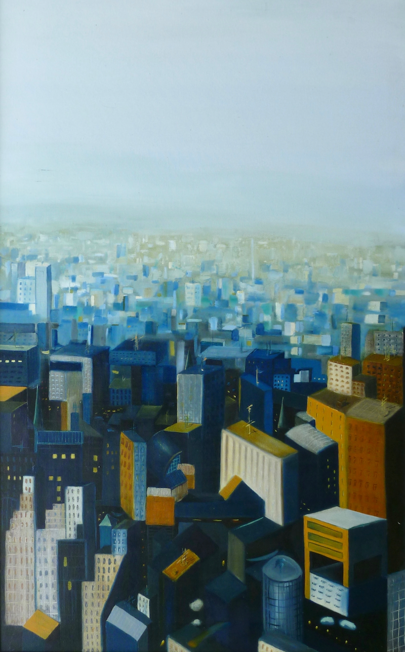 (CreativeWork) New York II by Tom Koch. oil-painting. Shop online at Bluethumb.