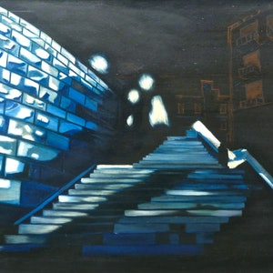 (CreativeWork) New York III by Tom Koch. oil-painting. Shop online at Bluethumb.