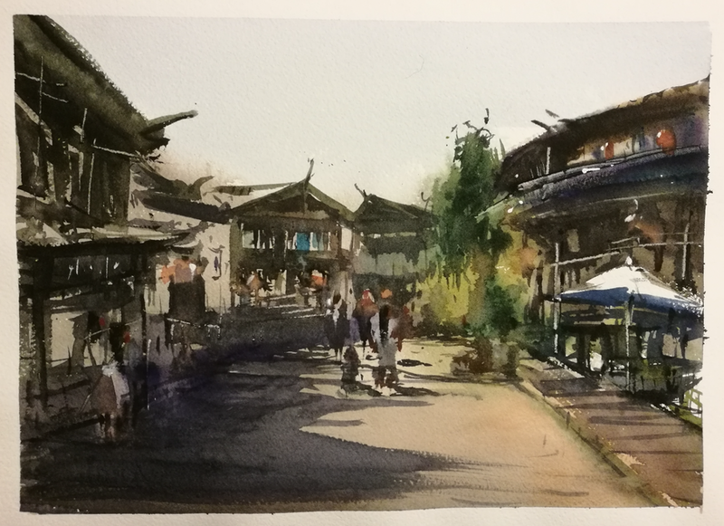 (CreativeWork) JIANGNAN by jianqiang xu. watercolour. Shop online at Bluethumb.