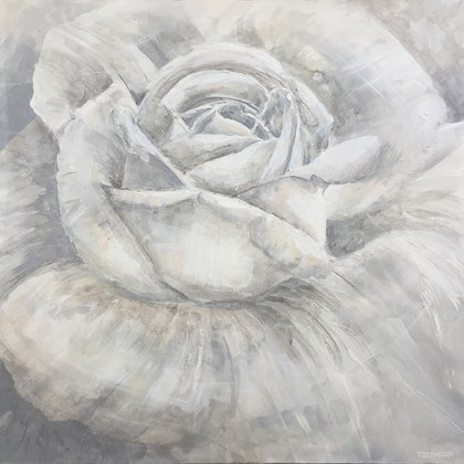 (CreativeWork) PURITY by Treena Seymour. mixed-media. Shop online at Bluethumb.