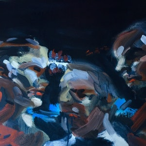 (CreativeWork) Ok Guys You Know The Rules by Stephen Tiernan. oil-painting. Shop online at Bluethumb.