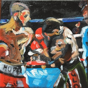 (CreativeWork) Hope & Glory by Stephen Tiernan. oil-painting. Shop online at Bluethumb.