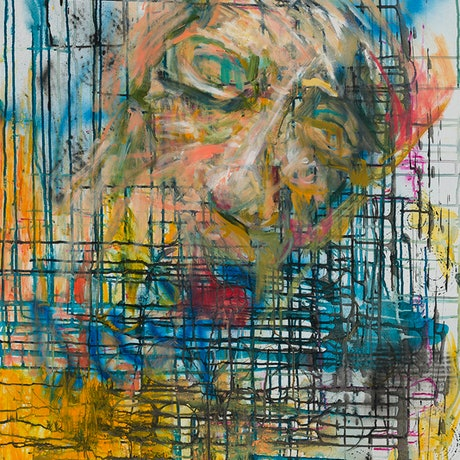 (CreativeWork) Fragmented Mind by Carmel Sayer. Mixed Media. Shop online at Bluethumb.