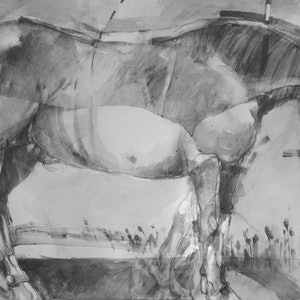 "(CreativeWork) Graphite Series -Painting 6   "" Trojan Horse 2 "" by Tony Belobrajdic. #<Filter:0x00007f3c257af680>. Shop online at Bluethumb."