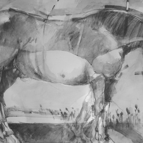 "(CreativeWork) Graphite Series -Painting 6   "" Trojan Horse 2 "" by Tony Belobrajdic. Drawings. Shop online at Bluethumb."