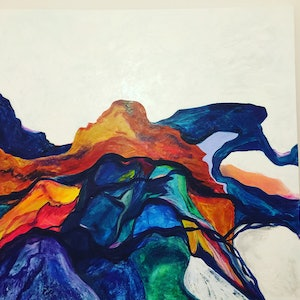 (CreativeWork) Mount Glasgow by Susanne Said. acrylic-painting. Shop online at Bluethumb.