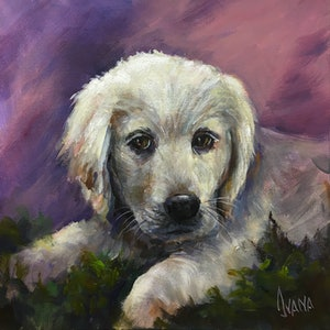 (CreativeWork) Our puppy by Ivana Pinaffo. print. Shop online at Bluethumb.