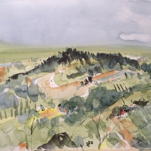 (CreativeWork) Tuscan Miracle by Bernd Rieve. watercolour. Shop online at Bluethumb.