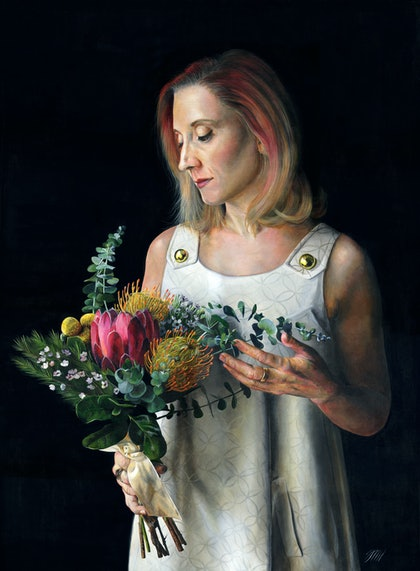 (CreativeWork) My spirit will be with you in the blooming flowers by Melissa Hartley. arcylic-painting. Shop online at Bluethumb.