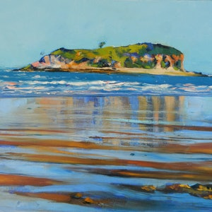 (CreativeWork) Mother McGregor Island by Elena Churilova. oil-painting. Shop online at Bluethumb.