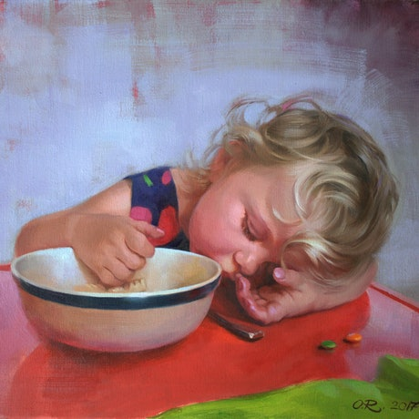 (CreativeWork) Siesta by Olga Read. Oil Paint. Shop online at Bluethumb.
