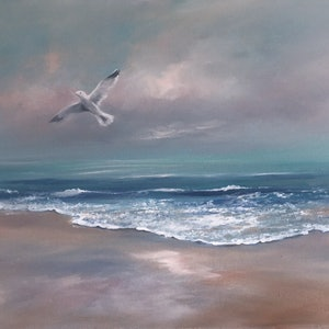 (CreativeWork) Soaring by Kathryn Johnston. oil-painting. Shop online at Bluethumb.