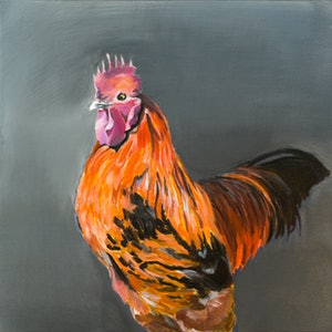 (CreativeWork) Lucas the Rooster by Celeste Muskas. #<Filter:0x000055cbc06b8410>. Shop online at Bluethumb.