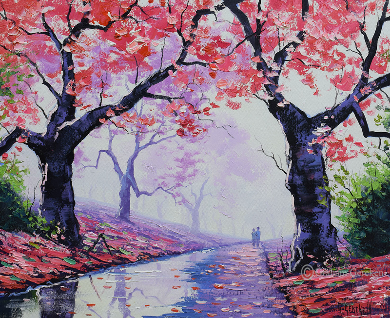 (CreativeWork) Lovers Stroll by Graham Gercken. oil-painting. Shop online at Bluethumb.