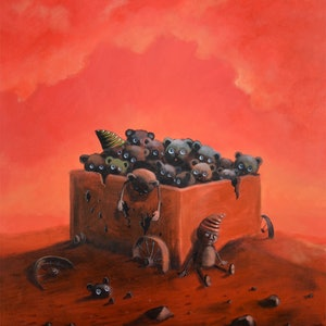(CreativeWork) Unwanted toys by Max Horst  Sokolowski. arcylic-painting. Shop online at Bluethumb.