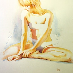 "(CreativeWork) ""Play of Light"" by Pauline Adair. watercolour. Shop online at Bluethumb."