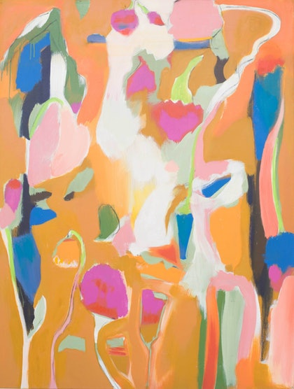(CreativeWork) Heart of the Garden by John Giese. arcylic-painting. Shop online at Bluethumb.