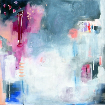 (CreativeWork) In Her Dreams #2 by Fiona Hill. arcylic-painting. Shop online at Bluethumb.