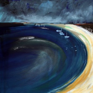(CreativeWork) Whitehaven by Paul Drought. arcylic-painting. Shop online at Bluethumb.