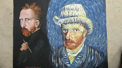 (CreativeWork) HOMAGE TO VINCENT by edward mitford. oil-painting. Shop online at Bluethumb.