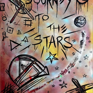 (CreativeWork) JOURNEY TO THE STARS by Bianca Werneburg. mixed-media. Shop online at Bluethumb.