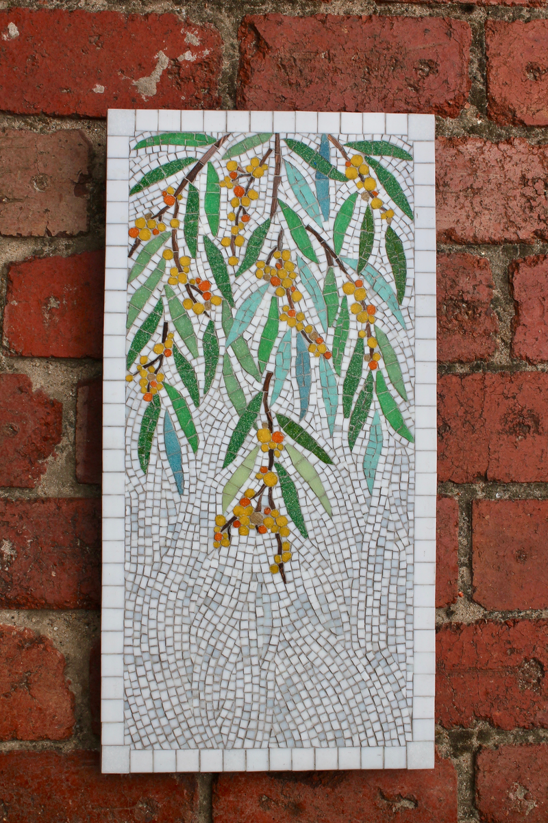 (CreativeWork) Golden Wattle by Natalie Kouts. other-media. Shop online at Bluethumb.