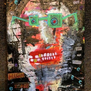 (CreativeWork) Flipping out by Dominic J White. mixed-media. Shop online at Bluethumb.