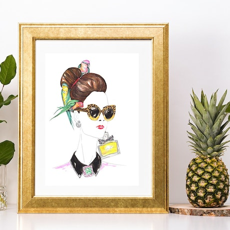 (CreativeWork) Parrots and Dior Down Under  Ed. 1 of 1 by BaleaRaitz Lorena. Print. Shop online at Bluethumb.