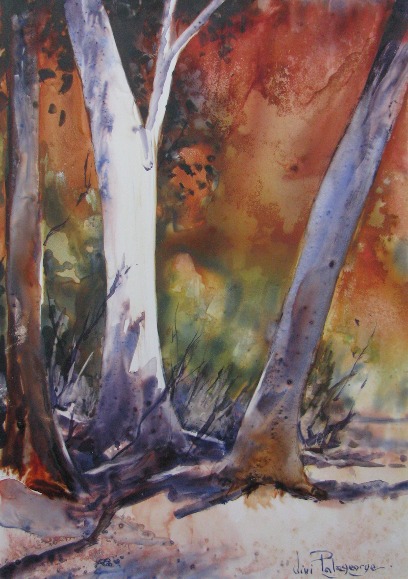 (CreativeWork) An Outback palette. by Vivi Palegeorge. watercolour. Shop online at Bluethumb.