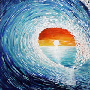 (CreativeWork) Surfers Paradise by Wendy Hocking. arcylic-painting. Shop online at Bluethumb.