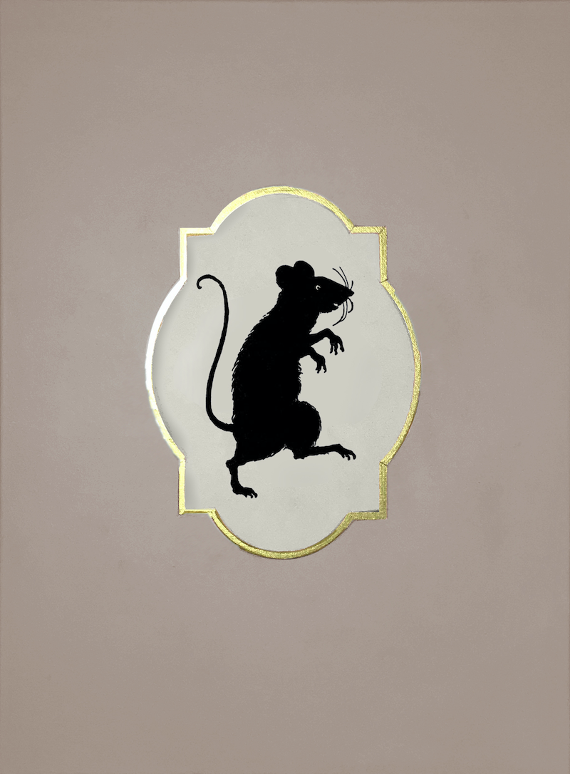 (CreativeWork) Victorian Shadow Portrait of a Rodent by Donna Christie. arcylic-painting. Shop online at Bluethumb.