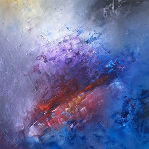 (CreativeWork) Meditative Interfusion by Scott Maxwell. oil-painting. Shop online at Bluethumb.