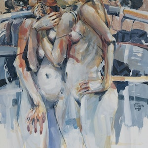 (CreativeWork) Bathers of Avignon ( series of ten paintings ) by Tony Belobrajdic. other-media. Shop online at Bluethumb.