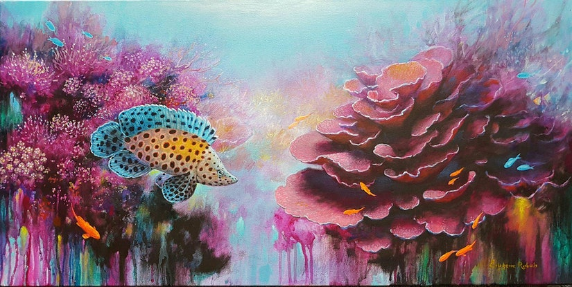 (CreativeWork) Pink corals by Eugene Rubuls. #<Filter:0x00005609708599c0>. Shop online at Bluethumb.