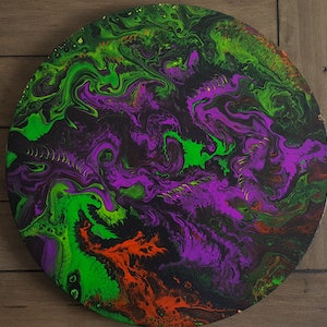 (CreativeWork) Circle of beasts by Sheryl Anderson. arcylic-painting. Shop online at Bluethumb.