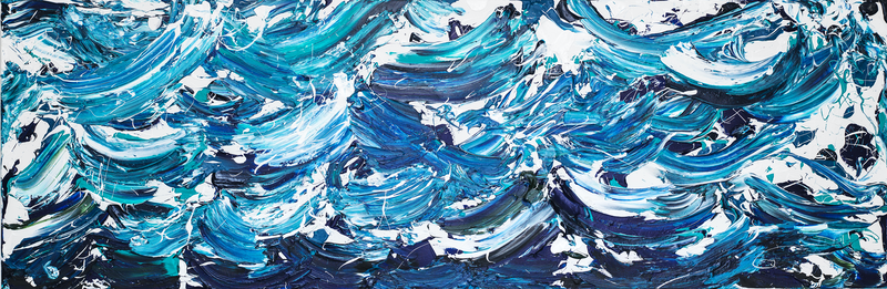 (CreativeWork) Stormy Seas (2) 2018 by Annette Spinks. mixed-media. Shop online at Bluethumb.