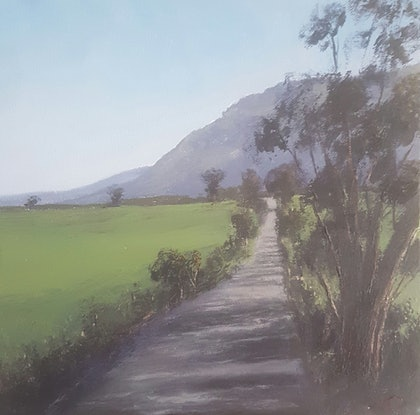 (CreativeWork) Back road of Berry Nsw, Acrylic on canvas. by Terrence Dower. arcylic-painting. Shop online at Bluethumb.