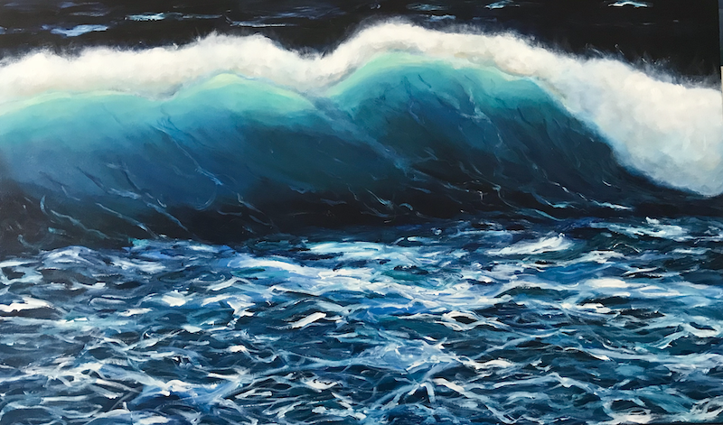 (CreativeWork) Tempestuous by Jenny McGrath. arcylic-painting. Shop online at Bluethumb.