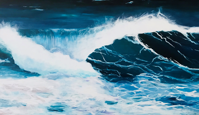 (CreativeWork) Tumultuous by Jenny McGrath. arcylic-painting. Shop online at Bluethumb.
