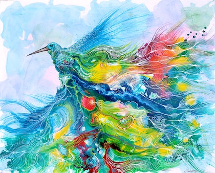 (CreativeWork) In Flight by Lisa Humphrey. arcylic-painting. Shop online at Bluethumb.