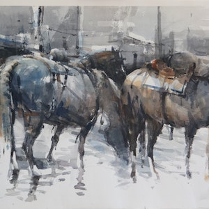 (CreativeWork) After Battle 2 by Tony Belobrajdic. watercolour. Shop online at Bluethumb.