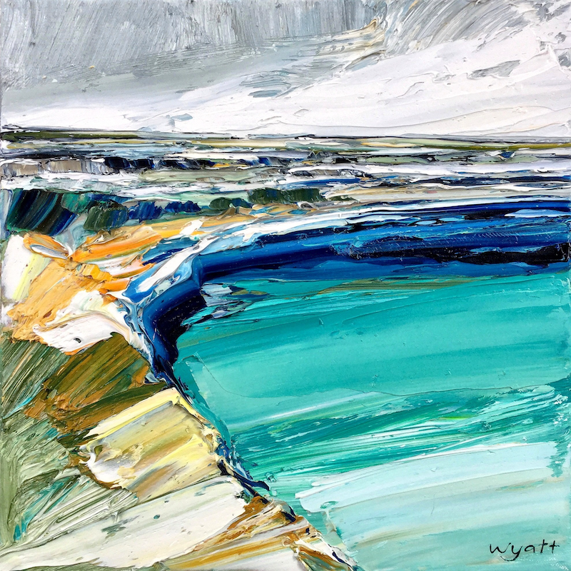 (CreativeWork) Safe Harbour by Katie Wyatt. oil-painting. Shop online at Bluethumb.