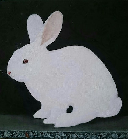 (CreativeWork) Classic Bunny 1 by Paola Ditel. mixed-media. Shop online at Bluethumb.