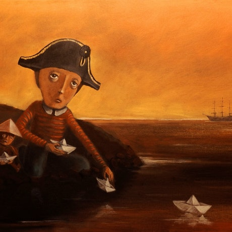 (CreativeWork) Master and Commander by Max Horst  Sokolowski. Acrylic Paint. Shop online at Bluethumb.
